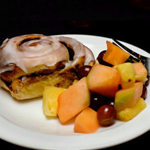 Continental Breakfast - Cinnamon Roll and Fruit
