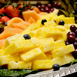 platter of fresh fruit
