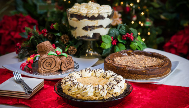 assorted christmas desserts