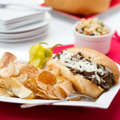 Italian Beef Sandwich with Chips