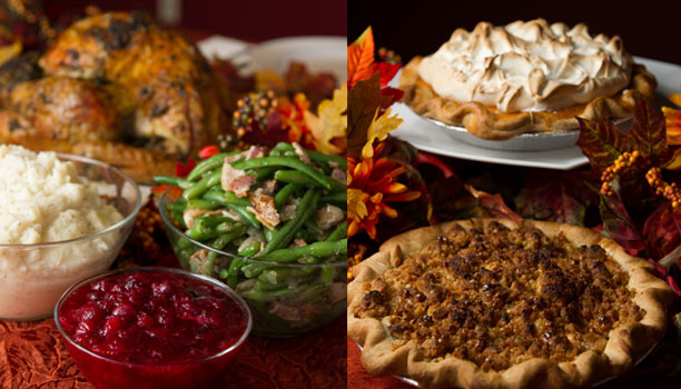 thanksgiving dinner and desserts