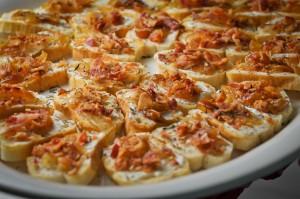 Bacon Carmelized Onion Crustini