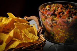 Black Bean Salsa and Chips