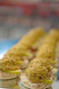 Curried Chicken Finger Sandwiches
